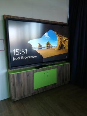support écran interactif rangement sécurisé