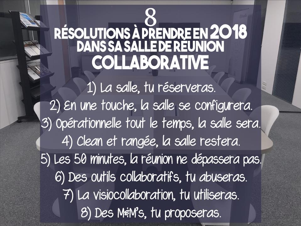 8 résolutions à prendre en 2018 dans sa salle de réunion collaborative